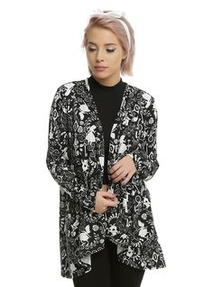 Disney Alice In Wonderland Flyaway Cardigan, BLACK