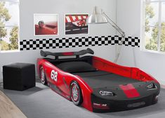 Turbo Race Car Twin Bed, Red