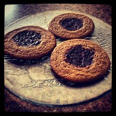 Pinterest project #5 - peanut butter cookies w/ berry jam...I altered the original recipe a little (original pin: confections)