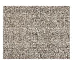 Chunky Wool & Jute Rug - Gray #potterybarn