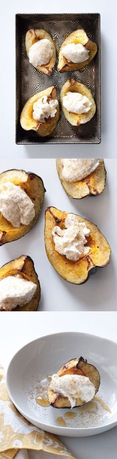 roasted acorn squash with ricotta cheese AND honey. via matt bites...he's awesome.
