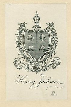 Ex Libris Bookplate for Henry Jackson by Sidney L. Smith  in Art, Art from Dealers & Resellers, Prints   eBay