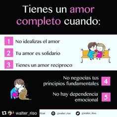 """Walter Riso siempre es genial!!! #Repost @walter_riso with @repostapp  Para que una pareja funcione bien no solo hay que """"hacer el amor"""" también hay que """"hacer la amistad"""" construirla y disfrutarla. #WalterRiso #Reflexiones #Frases"""