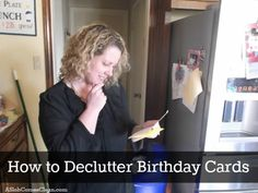 How to Declutter Birthday Cards