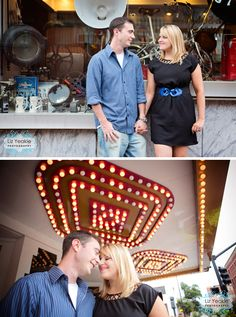 Abby + Tad | Marietta Square Engagement » Liz Love Laugh