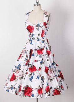 Pinup Rockabilly 50s Rose Print Retro Swing Dress Size XS s M L XL 1x 2X 3X 4X | eBay