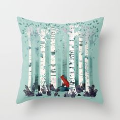 Buy The Birches Throw Pillow by littleclyde. Worldwide shipping available at Society6.com. Just one of millions of high quality products available.