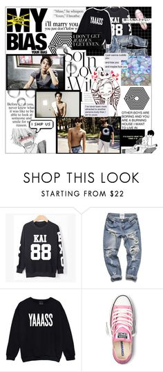 """MY ULTIMATE BIAS FOREVER "" by hau-hau ❤ liked on Polyvore featuring KRISVANASSCHE, Børn and Converse"