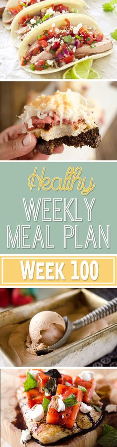 A delicious mix of healthy entrees, snacks and sides make up this Healthy Weekly Meal Plan for an easy week of nutritious meals your family will love! Healthy Weekly Meal Plan, Healthy Menu, Weekly Menu, Healthy Eating, Clean Eating, Healthy Homemade Snacks, Healthy Recipes, Healthy Foods, Superfood Recipes