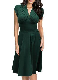 Goedkope 2016 vrouwen jurk nieuwe mode vrouwen zomer korte mouw bodycon jurk elegante formele partij jurken toevallige groene kantoor slijtage, koop Kwaliteit jurken rechtstreeks van Leveranciers van China:  misschien heb je maar wilt    nieuwe mode zomer vrouwen formele 2016 bodycon jurk elegante korte mouw