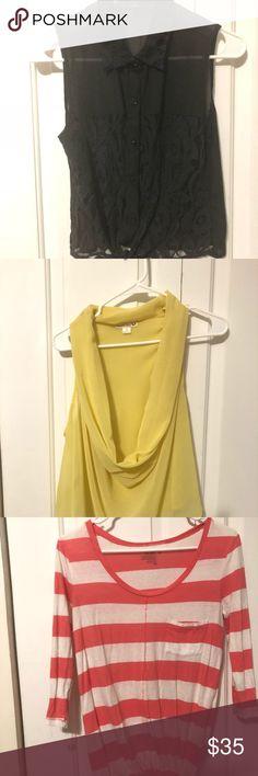0cefa552fc8a Blouse  shirt bundle. 6 shirt bundles! Size Small