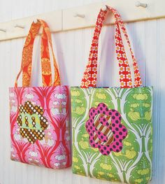 Initial Monogram Applique Tote Bag for Christmas by jacksandkate, $40.00