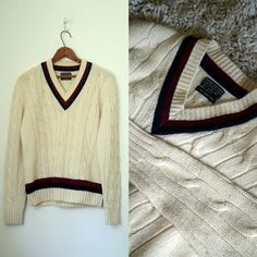 Vintage Tennis Sweater to purchase | vintage 1960's tennis sweater BROOKS BROTHERS cable knit CRICKET retro ...