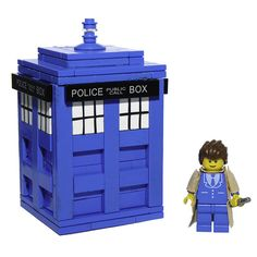 LEGO Doctor Who & TARDIS ... I would add hinges so the top opens and i can put stuff in it.   yup