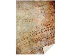 1 Bogen Kartenkarton  24 x 34cm, Notenblatt von Zeit für Kreatives auf DaWanda.com
