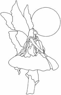 Fairy on Toadstool pattern free sample