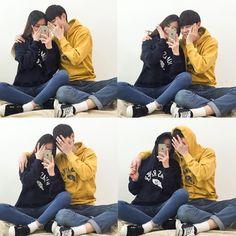 Korean Couple Fashion Outfits ideas for couples ♥ . Korean Couple Photoshoot, Couple Shoot, Perfect Couple, Sweet Couple, Ulzzang Fashion, Korean Fashion, Cute Korean, Korean Girl, Couple Ulzzang