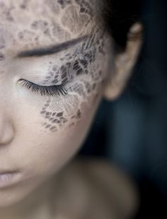 Lace pattern by Leanne Lim-Walker #makeup #lace