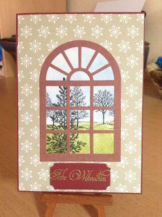 Weihnachtskarte mit Lovely as a tree Stempeln von Stampinup