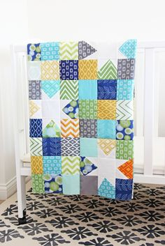 Reverse Hopscotch Quilt featuring Simply Color, both by V and Co