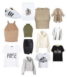 """""""Christmas wish list"""" by hannahcallaghan ❤ liked on Polyvore featuring Ally Fashion, WearAll, New Look, WithChic, MANGO and adidas"""