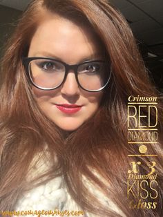 Crimson Red Diamond LipSense with Diamond Kiss Gloss www.courageouskisses.com #crimsonreddiamondlipsense #lipsense #diamondkissgloss