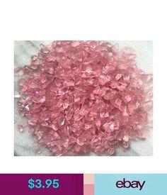 Garden Decor Miniature Fairy Garden Terrarium Lt. Pink Glass Gems Crushed Decorative Chips #ebay #Home & Garden