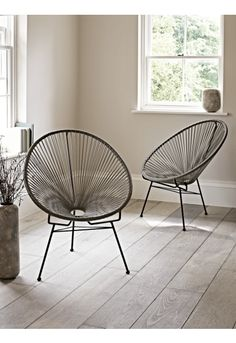 Grey String Chair - Chairs - Furniture