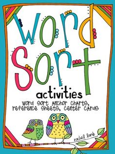 Words Their Way on Pinterest | Word Sorts, Short Vowels and First ...