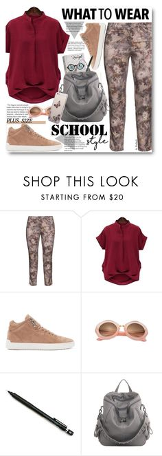 School Style (plus size) by beebeely-look on Polyvore featuring Steilmann, rag & bone, Kyme, Pentel, BackToSchool, plussize, plussizefashion, back2school, rosegal and plus size clothing