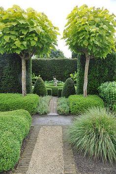 Прекрасный английский сад с современным твист .:
