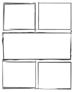 """Each comic strip template in this section has a """"hand drawn"""" style to the panel outlines that give the entire set of panels a more casual or rugged look. They can be used with other templates to signal a change in the story arc or just to add variety to the style of your comic creation. Comic Strip Template, Comic Strips, Rugged Look, Story Arc, Learning Resources, How To Draw Hands, Templates, Comics, Stencils"""
