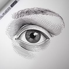 Eye Illustration, Illustration Techniques, Ink Illustrations, Art Drawings Sketches, Mandala Wolf, Mandala Tattoo Design, Black And White Illustration, Drawing Reference, Instagram Posts