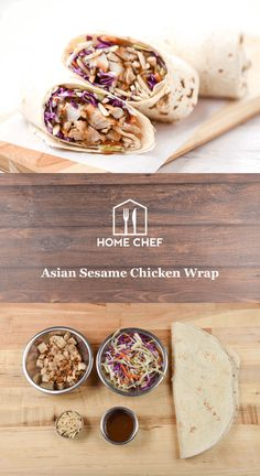 Asian Sesame Chicken Wrap no cooking required Easy Cooking, Healthy Cooking, Healthy Eating, Hamburgers, Pizza Hamburger, Hello Fresh Recipes, Sammy, Quick Easy Dinner, Sesame Chicken