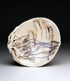Abstraction and representation intersect in Lauren Gallaspy's illustrations and ceramic sculptures. She creates bowls, plates, and mugs, intricate wit...