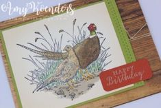 Bildergebnis für stampin up Stamping Up Cards, Bird Cards, Fathers Day Cards, Thanksgiving Cards, Animal Cards, Fall Cards, Pheasant, Masculine Cards, Greeting Cards Handmade
