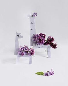 Lilac Llamas with template - willowday