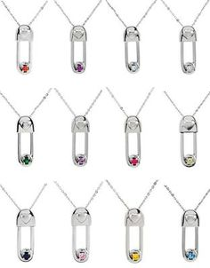 Push Present! Gift Idea: Safe In My Love Necklace and Birthstone Safety Pin Pendant