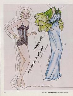 Jean Harlow paper doll