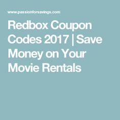 12 best redbox codes free movie rentals images on pinterest redbox coupon codes 2017 save money on your movie rentals fandeluxe Images