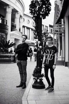 Caspar Lee and Joe Sugg; MODEL MATERIAL