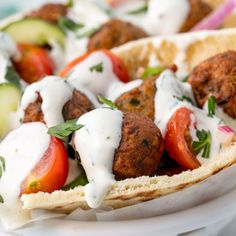 You don& have to travel far to enjoy the wildly unique and delicious taste of falafel. This recipe for Easy Homemade Falafel will take you all the way to the Mediterranean with its rich and delicious flavors. Vegan Recipes Videos, Vegan Dinner Recipes, Vegan Breakfast Recipes, Vegan Recipes Easy, Vegetarian Recipes, Waffle Recipes, Simple Recipes, Summer Recipes, Keto Recipes