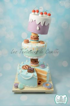 Cake Tower - Cake by Les Tentations de Camille