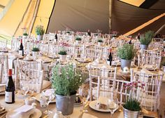 Emily and Stephen's rustic tipi wedding reception with DIY details!