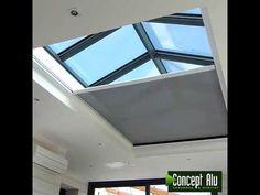 Living Room Entrance Ideas, Roof Design, House Design, Conservatory Interiors, Ideas Terraza, Skylight Design, Home Fountain, Rooftop Terrace Design, Built In Sofa