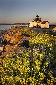 Point No Point #Lighthouse, #Washington http://www.flickr.com/photos/photopatthomas/9363995932/
