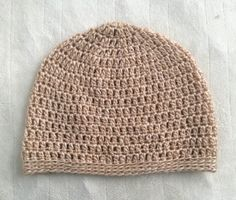 Tan Crochet Beanie Adult Women's Disneybound by SonitasYarnStash