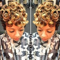 STYLIST FEATURE| Love this #pixie✂️done by #DFWStylist @HairbyKendrah Gorgeous color and those curls are POPPING➰➰➰ #VoiceOfHair