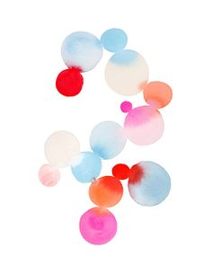 Handmade Watercolor Archival Art Print Dot by YaoChengDesign, $20.00