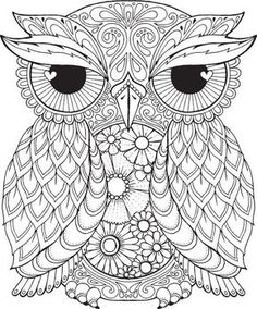 Seth Owl - Colour with Me HELLO ANGEL - coloring, design, detailed, meditation, coloring for grown ups, owl, cute colouring for kids:                                                                                                                                                                                 Mais
